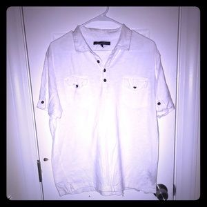 Men's white casual polo. Size XL